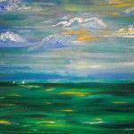 Meer in Grün, 70 x 50 Acryl auf Leinwand