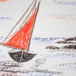 Segler Mittelmeer II, 60 x 50 Pastellkreide auf Papier