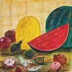 Stillleben Obst, 50 x 50 Acryl auf Leinwand