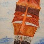 Eye of the Wind (Pastellkreide auf Künstlerpappe, Format 35 x 45 )