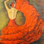 Flamencotänzerin, 60 x 80, Acryl auf Leinwand, (verkauft)
