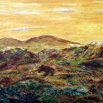 Highlands, 70 x 50,Acryl-Mischtechnik strukturiert auf Leinwand