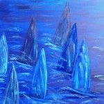 Blue Race, 50 x 70 Acryl auf Leinwand