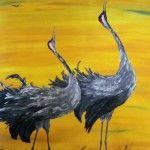 Naturschauspiel, 100 x 120 Acryl auf Leinwand
