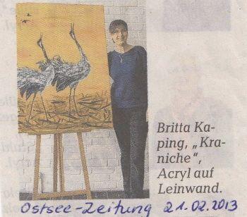 Ostsee Zeitung vom 21. Februar 2013