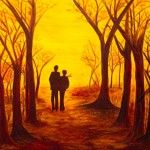 Herbstspaziergang, 100 x 120 Acryl auf Leinwand