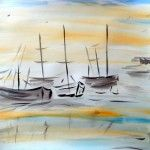 Träumerei, 50 x 60 Aquarell auf Papier, (verkauft)