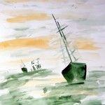 ...auf dem Meer (Aquarell auf Papier 50 x 60 )