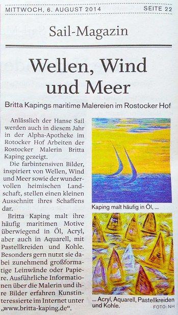 Hanse Sail Magazin 06.08.2014