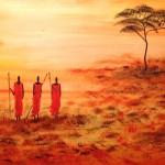 Afrika, 100 x 40, Acryl auf Leinwand