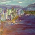 Vancouver - Canada, 70 x x 50 Acryl auf Leinwand