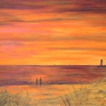 Abend am Strand; 150 x 100; Acryl auf Leinwand (verkauft)