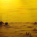 Abendruhe II ; 100 x 70 Acryl auf Leinwand - Auftragsbild verk.