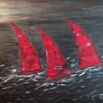 Red Race, 120 x 100 Acryl auf Leinwand, strukturiert