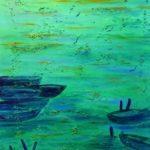 Serenade in green, 50 x 70 strukturiert, Acryl auf Leinwand