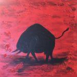 Stier, 40 x 40 Acryl auf Leinwand, strukturiert