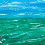 Weitblick , Acryl auf Leinwand 20 x 60