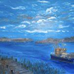 Nemitzer See, 120 x 100 x 3,5 Acryl auf Leinwand