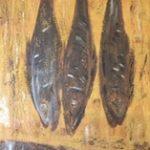 Räucherfisch, 30 x 60, Acryl auf Leinwand,strukturiert