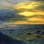 Stormy, 50 x 40 , Acryl auf Leinwand,