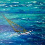 Surfer, Acryl auf Leinwand, 120 x 100 x 3,8