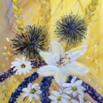 Sommerblüten, 50 x 60, Acryl auf Leinwand