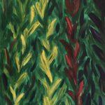 Gladiolen 30 x 60 x3,5, Acryl auf Leinwand, gespachtelt