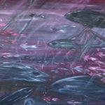 Unterwasserwelt, 120x100x3,5 ; Acryl auf Leinwand