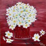 Blüten, 40 x 40, Acryl auf Leinwand
